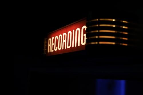 Recording sign